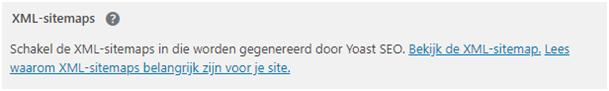 WordPress Yoast SEO XML-sitemap aanmaken